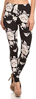 World of Leggings Buttery Soft Fashion Abstract Floral Tribal Print Leggings
