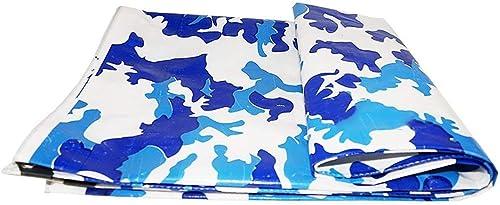 GLPBache de visière en Plastique de crêpe de linoléum, camionette, Bateau, Camping, auvent ou auvent Camouflage de Piscine (200G   M2) (Taille   6x8m)