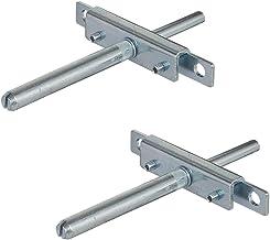 GedoTec H8250 Plankhouder met aanschroefplaat en cadeaubodemdrager, metaal, belastbaar tot 180 kg, gecoat, wandmontage, me...
