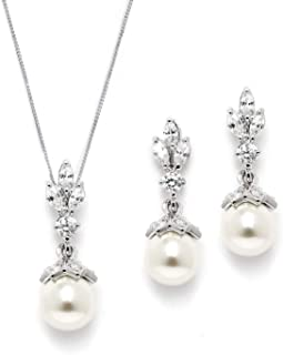 Light Ivory Pearl Drop Vintage Bridal & Wedding Jewelry Set, Great for Everyday Wear and Gifts