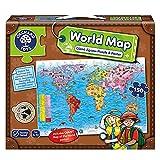 Orchard Toys - Puzle y póster, diseño Mapa del Mundo (en inglés) [Importado de Gran Bretaña]