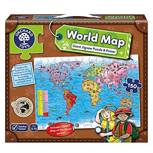 Orchard Toys - Puzle y póster, diseño Mapa del Mundo (en i