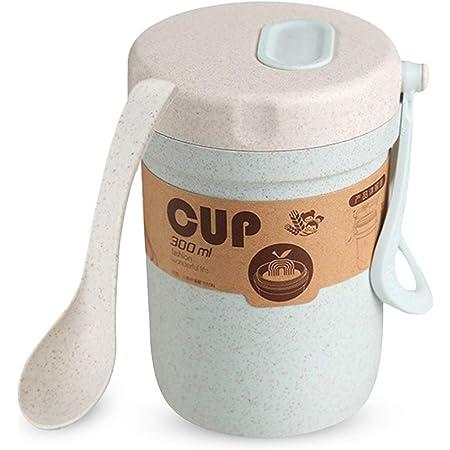 Muesli To Go Taza T/érmica para Cereales//Granola para Viajes con Compartimento Refrigerado para Leche o Yogur Cuchara Plegable Incluida Color: Naranja  
