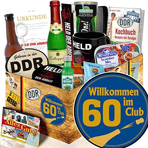 Wilkommen im Club 60 / Geschenk 60. Geburtstag / Nostalgiebox Mann