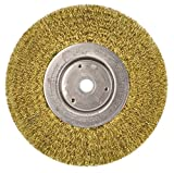 Weiler 01475 6' Narrow Face Crimped Wire Wheel.0118' Brass Fill, 5/8'-1/2' Arbor Hole, Made in The USA (Pack of 2)