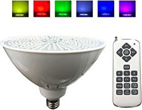 Taysing Color Changing Swimming Pool Lights Bulb LED PAR56 Light (Switch Control + Remote Control Type) for Pentair Hayward Light Fixture,and for Inground Pool,E26 E27 Edison Screw Base 120V 36W