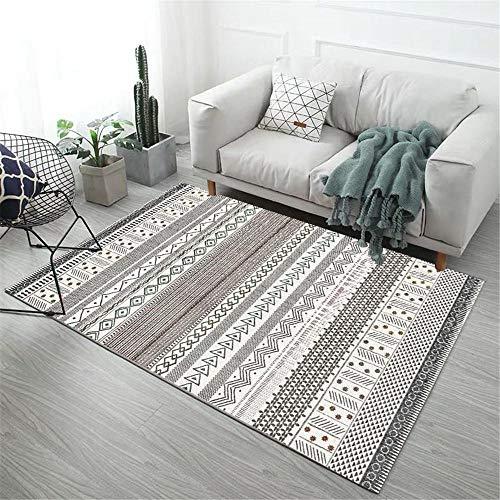 Kunsen Sofas de Salon Grandes alfombras de Salon Alfombra Rectangular Gris Moderna Punta Antideslizante de plástico con Fondo Alfombra Jardin Exterior 120X160CM 3ft 11.2' X5ft 3'