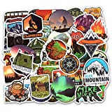 Best Hiking Stickers - Wilderness Nature Stickers Outdoors Hiking Camping Travel Adventure Review