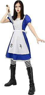 Halloween Cosplay  Alice Madness Returns Princess Dress Maid Fancy Dress Costume
