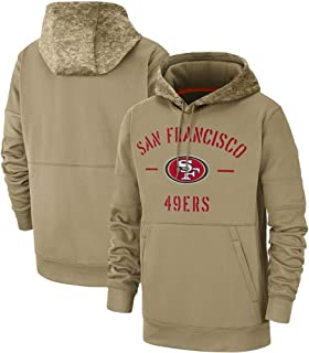 Franklin Sports Men's Arizona Cardinals Tan 2019 Salute to Service Sideline Therma Pullover Hoodie