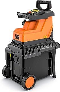 TACKLIFE Biotrituradora de Jardín, Potencia 2800 W, Capacidad de Corte Máxima de 45 mm, 55L Caja de Recolección, Motor Sil...