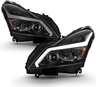 ACANII - For 2010-2013 Infiniti G37 11-12 G25 Q40 4-Door Sedan Black w/LED Switchback DRL Sequential Signal Headlights
