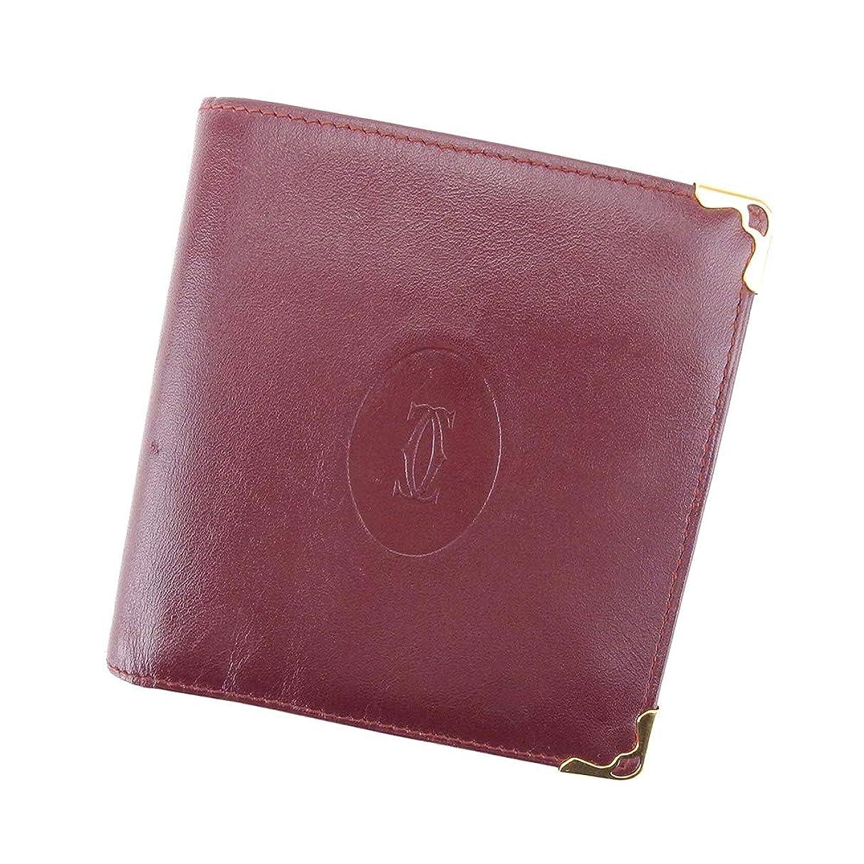 醸造所抜け目がない嫌がらせカルティエ Cartier 二つ折り 財布 レディース メンズ マストライン L2618