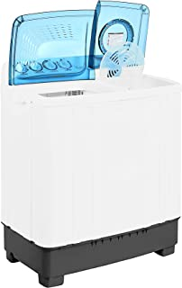 Super General 10 kg Twin-tub Semi-Automatic Washing Machine, White/Blue, efficient Top-Load Washer with Lint Filter, Spin-...