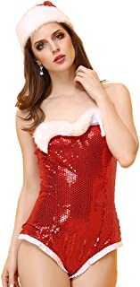 Miss Santa's Sweetie Costume Hot sexy Costume Corset Suits with Hat/Stocking