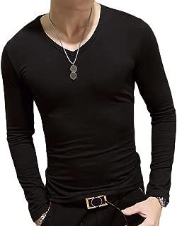 XARAZA Mens Slim Fitted Crew Neck Undershirt T-Shirts Tops