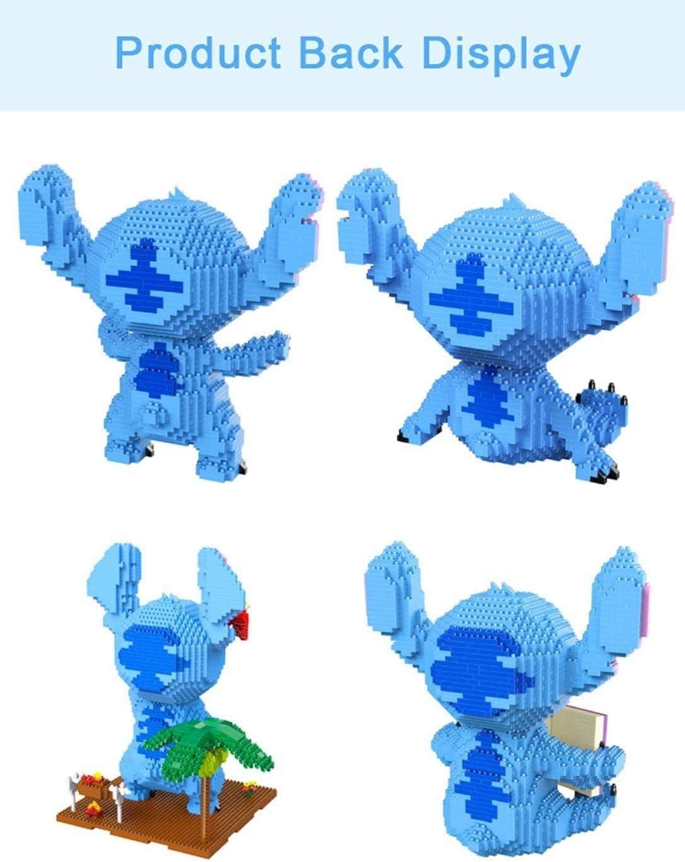 Leuke knipooggitaar cartoon honden model mini bouwstenen bakstenen speelgoed gemonteerde cijfers for kinderen geschenken, kleur: a (Color : D) B