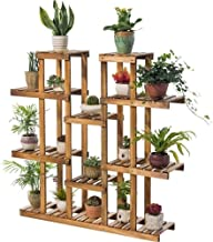 ZXHDND Flower Stand Flower stand Wooden 9 Layer Plant Display Stand Multi-layer Plant Stand For Indoor And Outdoor Garden ...