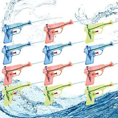 Herefun 12 Pack Pistole ad Acqua Giocattolo, Mini Pistole ad Acqua per Bambini Giocattoli, Pistola ad Acqua Estivo all'aperto, per Estate Pool d'Acqua Gioco & Spiaggia Feste Compleanno