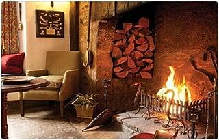 "iRocket interior Suelo Alfombra/Alfombrilla–país chimenea (23.6""x 15.7"", 60cm x 40cm)"