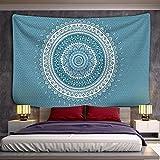 KHKJ Tapiz de Mandala para Colgar en la Pared, Playa de Arena, Manta, Manta, Tienda de campaña, colchón de Viaje, cojín de Dormir Bohemio, tapices A2 150x130cm