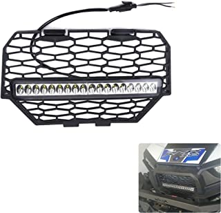 KEMIMOTO Front Mesh Grill with LED Light Bar for Polaris RZR XP 1000 Light Bar Included