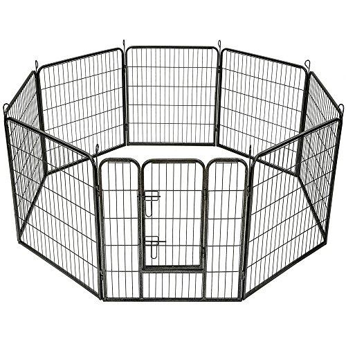 TecTake Parque para Mascotas Valla Libre Corriendo Jaula para Animales - Varios Modelos - (8 Vallas | no. 401717)