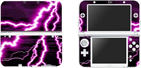 FOTTCZ Vinyl Cover Decals Skin Sticker for New Nintendo 3DS XL/LL - Purple Lighting