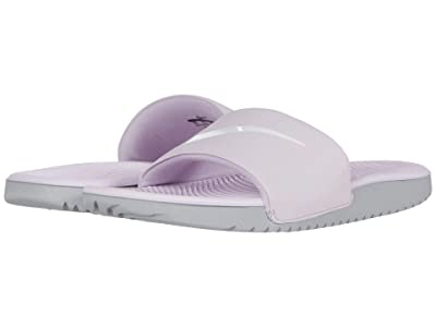 Nike Kids Kawa Slide (Little Kid/Big Kid) (Iced Lilac/White/Particle Grey) Boys Shoes
