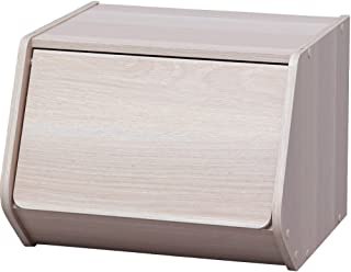 アイリスオーヤマ スタック ボックス 扉付き 幅40×奥行38.8×高さ30.5cm ナチュラル STB-400D