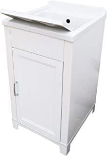 Mueble de 45 x 50 cm, kit de lavabo de resina y PVC, color