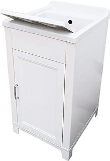 comprar comparacion Mueble de 45 x 50 cm, kit de lavabo de resina y PVC, color blanco