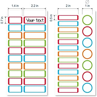 ETIKIDS 40 Multipurpose Customizable Laminated Adhesive Labels (Color) for Daycare and School.
