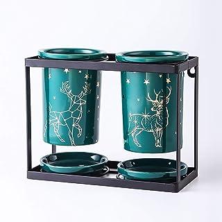 13,6x7,2x9,9 cm wkwk Cucina Scolaposate,Scolaposate Portaposate,Creativo Tubo di stoccaggio per stoviglie in Ceramica per Cucina Domestica