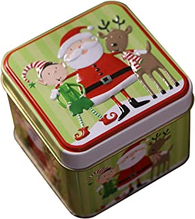 Best Xmas Gift Set for Homemade Presents and Keepsakes Candy DDLmax Christmas Cookie Tins with Lids Treats and Chocolate Decorative Holiday Storage Jars Cookie