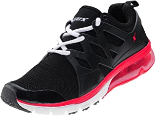 CLICKTIN Sparx Men's Black/White Sport Shoes, 7