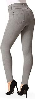 Bamans Yoga Dress Pants for Women Business Casual Slim Workout Skinny Pants Zipper Closure, Back Pockets Work Pants for Women