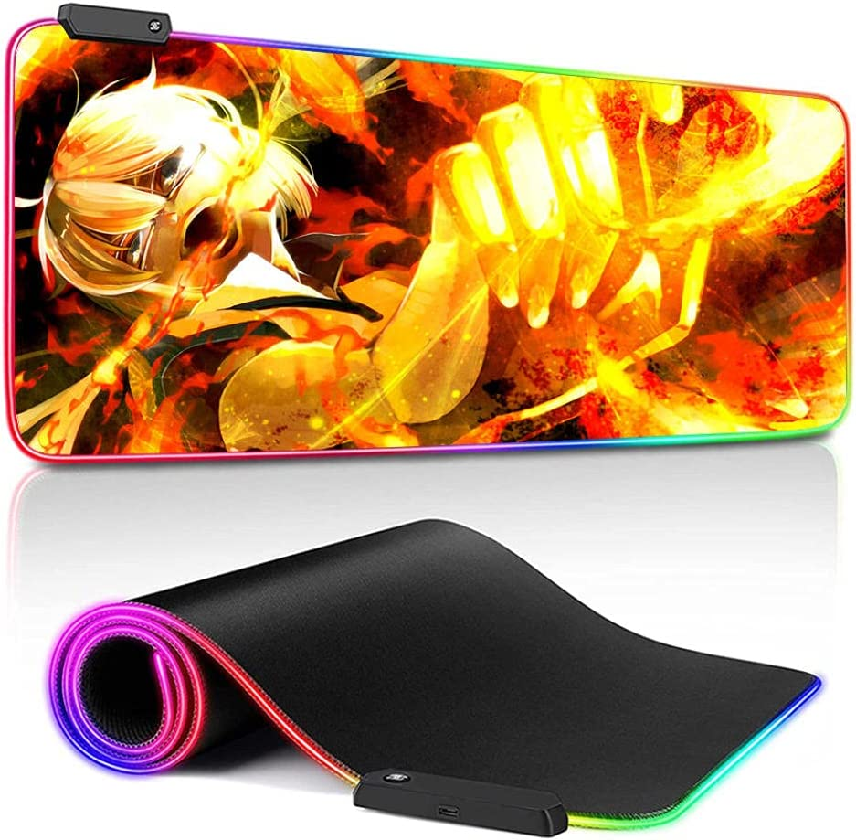 RGB Mouse Pad Anime Inexpensive Inazuma Eleven Led Accessories Large Our shop OFFers the best service Gamer M