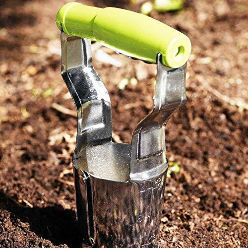 Hand-Blumenzwiebel-Pflanzgefäß, biegungsfreies Werkzeug zum Pflanzen von Blumenzwiebeln, Edelstahl, ideal zum Umtopfen, Pflanzwerkzeuge für Gartengeräte und ideales Gartenzubehör für Pflanzen
