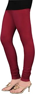 Ladyline Premium Cotton Soft Long Churidar Leggings FREE SIZE with Double Stitches Plain
