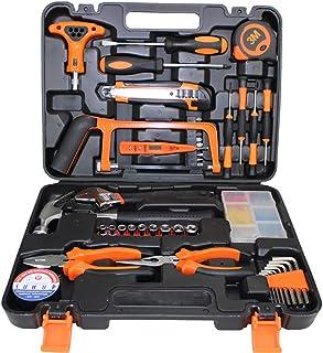 مجموعة أدوات منزلية من جلوكلوز 82 قطعة لإصلاح المنزل والحفاظ على أدوات يدوية يدوية أدوات محمولة من الصلب الكربوني للسيارات...