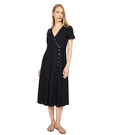 Madewell L En-Blend Button-Wrap Midi Dress Women