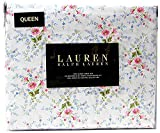 Ralph Lauren Queen Size French Country Floral Sheet Set Cotton Multi Color