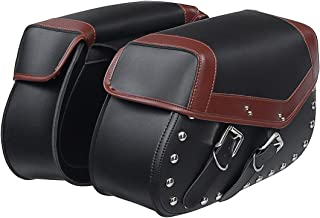 US Warehouse – alforjas para motocicleta, bolsas para sillín de bicicleta, almacenamiento lateral, tenedor, bolsa de herramientas para Harley/Honda