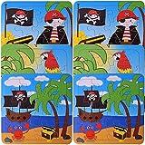 TE-Trend 6 Stück Pirat Freibeuter Papagei Mini Puzzle Kinder Jungen 14cm 16-teilig Geschenk...
