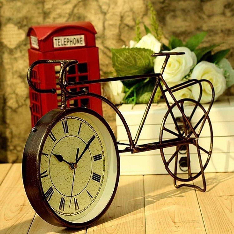 TtKjArte del Hierro Retro Creativo casa Reloj Bicicleta Adornos Reloj 40  23cm