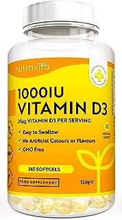 Vitamina D3 1000 UI - 365 Cápsulas
