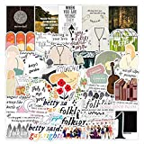 50 Pcs Folklore Taylor Swift Vinyls Stickers,Folk Song Album Waterproof Decals for Guitar Laptop Luggage Skateboard Water Bottles,Refrigerator Scrapbooking Snowboard Decorate Gift for Teens Adults