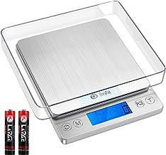 Brifit Balance de cuisine numérique 5 kg / 1g, balance de précision, balance à lettres avec conversion 6 unités, fonction ...