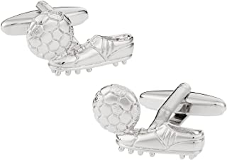 Cuff-Daddy Soccer Football and Cleats Boots Cufflinks with Presentation Box